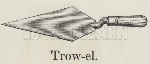Trowel. Illustration for An Illustrated Vocabulary For The Use Of The Deaf And Dumb (SPCK, 1857).