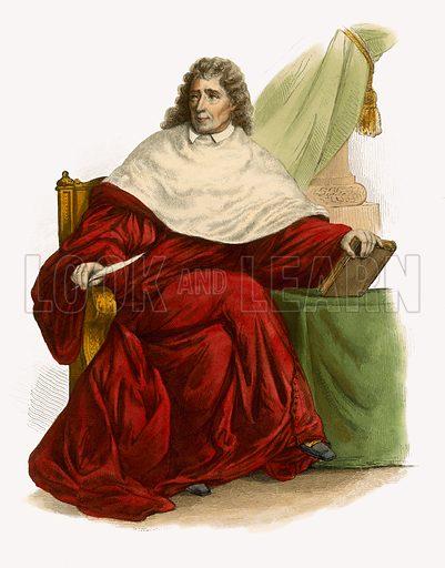 Montesquieu. Illustration for Le Plutarque Francais by Ed Mennechet (Crapelet, 1837-1841).