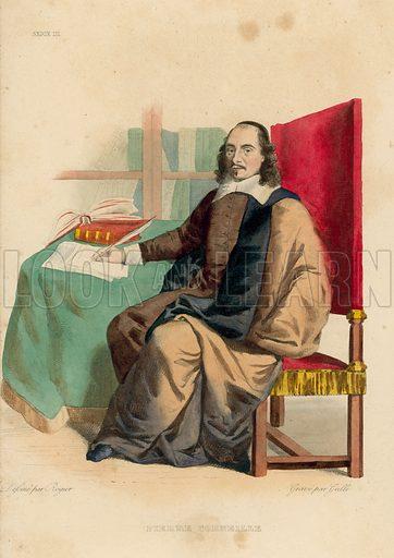 Pierre Corneille. Illustration for Le Plutarque Francais by Ed Mennechet (Crapelet, 1837-1841).