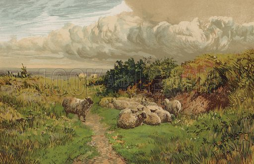 An English Pastoral. Illustration for Pen and Pencil magazine, late 19th century.