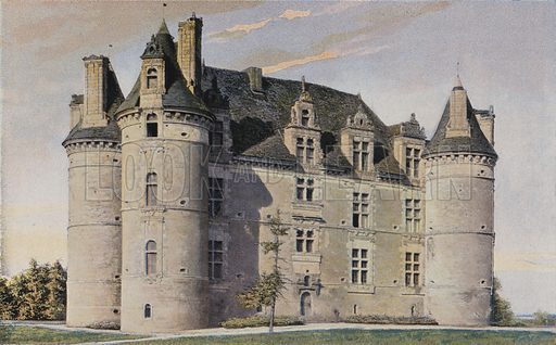 Le Vieil-Bauge, Chateau de Landifer, Ensemble S E. Illustration for La France De L