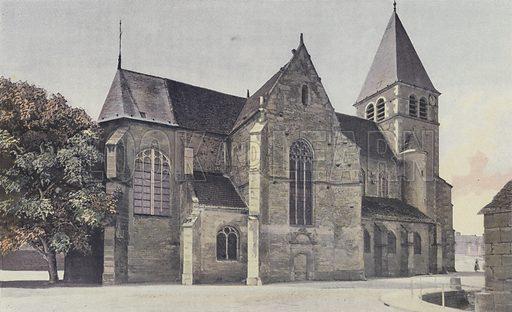 Bagneux-la-Fosse, Eglise, Ensemble N. Illustration for La France De L'Est by Charles Brossard (Flammarion, 1902).