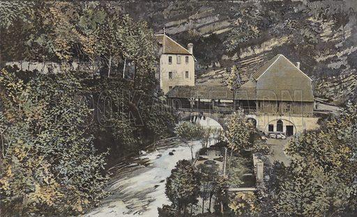 Moulin a la source de la Loue. Illustration for La France De L