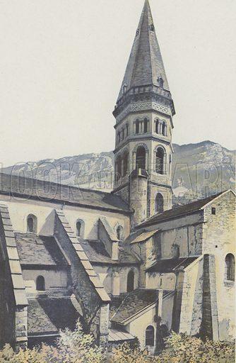 Nantua, Eglise, Clocher et transept N. Illustration for La France De L'Est by Charles Brossard (Flammarion, 1902).
