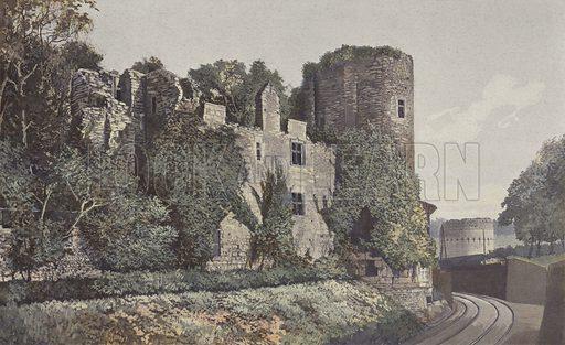 Perigueux, Chateau-Barriere et Tour de Vesone, Vue prise a l'O. Illustration for La France Du Sud-Ouest by Charles Brossard (Flammarion, 1902).