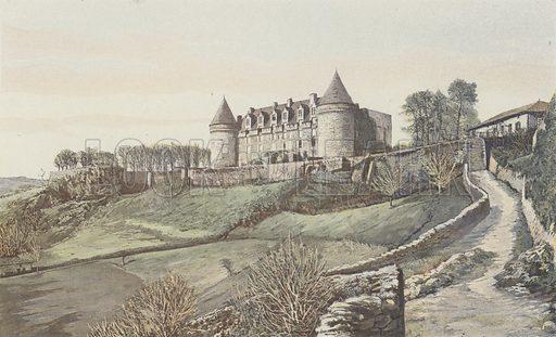 Rochechouart, Chateau, Vue generale, prise au SE Illustration for La France Du Sud-Ouest by Charles Brossard (Flammarion, 1902).