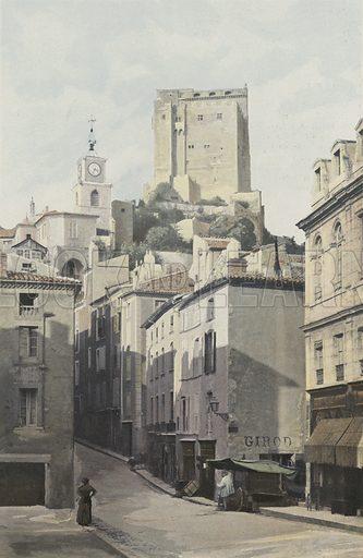 Crest, Tour, Cote de la ville. Illustration for La France Du Sud-Est by Charles Brossard (Flammarion, 1902).