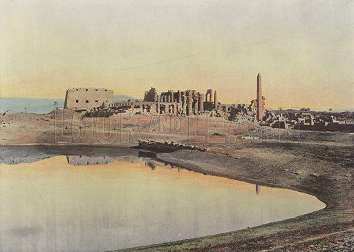 Le Lac Sacre De Karnak. Illustration for Autour Du Monde (L Boulanger, c 1900).