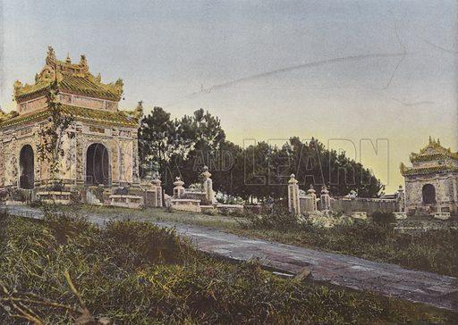 Necropole Du Pere Du Roi Dong-Khanh. Illustration for Autour Du Monde (L Boulanger, c 1900).