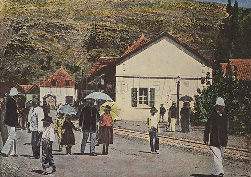 Saint-Denis, Rue De L'Embarcadere. Illustration for Autour Du Monde (L Boulanger, c 1900).