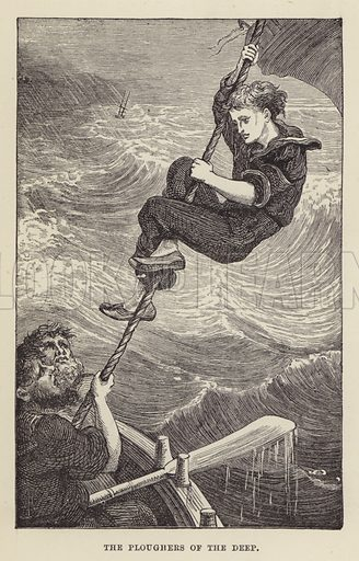 The ploughers of the deep. Illustration for Footsteps to Fame by Hain Friswell (Groombridge, 1880).