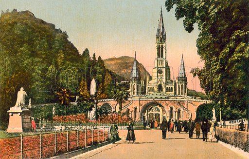 Lourdes, France. Postcard, early 20th century.