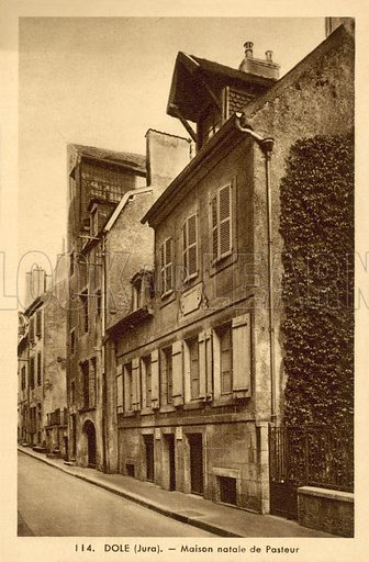 Dole, Jura, birthplace of Pasteur. Postcard, early 20th century.