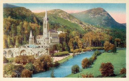 Lourdes. Postcard, early 20th century.