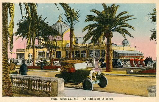 Nice, France, Le Palais De La Jetee. Postcard, early 20th century.