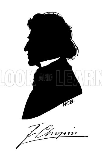 Silhouette of Frederic Chopin
