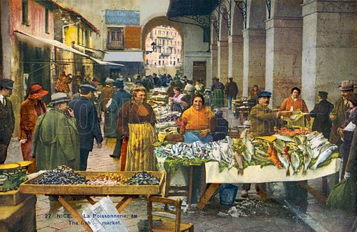 Nice, La Poissonnerie. Postcard, early 20th century.