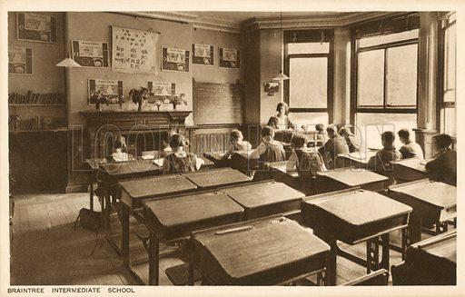 Braintree Intermediate School.  Postcard, early 20th century.