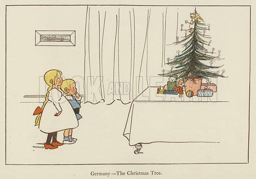 Germany, the Christmas Tree. Illustration for All the World Over by Edith Farmiloe (Grant Richard, 1898).