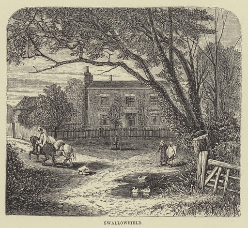 Swallowfield. Illustration for A Book of Memories of Great Men and Women of the Age by SC Hall (Virtue, 2nd edn, 1877).