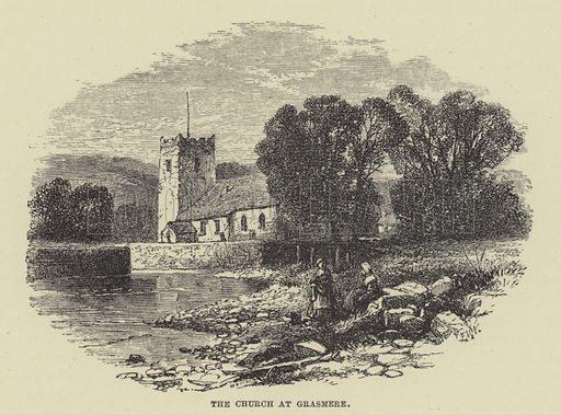 The church at Grasmere. Illustration for A Book of Memories of Great Men and Women of the Age by SC Hall (Virtue, 2nd edn, 1877).