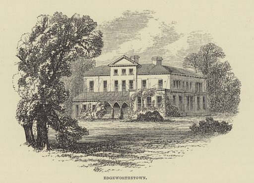 Edgeworthstown. Illustration for A Book of Memories of Great Men and Women of the Age by S C Hall (Virtue, 2nd edn, 1877).