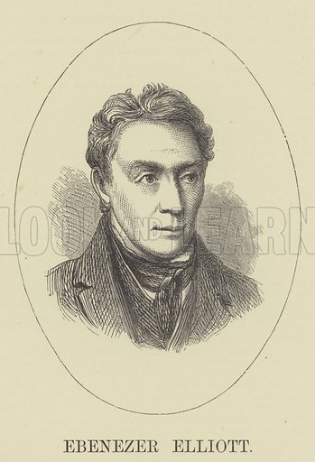 Ebenezer Elliott. Illustration for A Book of Memories of Great Men and Women of the Age by SC Hall (Virtue, 2nd edn, 1877).