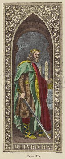 Heinrich V, 1106–1125. Illustration for Historical Sketch of the German Emperors and Kings by JB Benkard (2nd edn, Henry Keller, 1879).