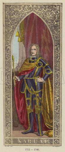 Karl VI, 1711–1740. Illustration for Historical Sketch of the German Emperors and Kings by JB Benkard (2nd edn, Henry Keller, 1879).