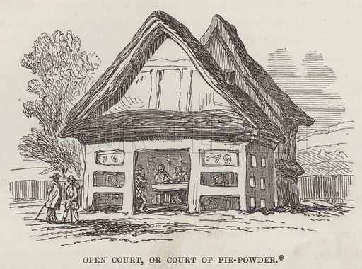 Open Court, or Court of Pie-Powder. Illustration for The History of Progress in Great Britain by Robert Kemp Philp (Houlston and Wright, 1859).