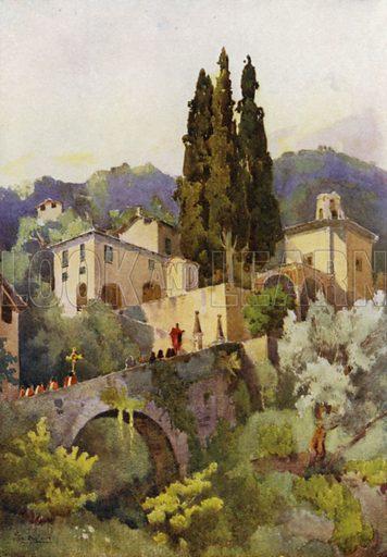La Madonna della Pace, Lago di Como. Illustration for The Italian Lake Described by Richard Bagot (A&C Black, 1905).