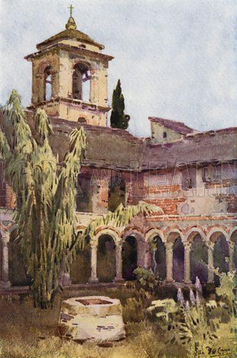 Il Chiostro di Piona, Lago di Como. Illustration for The Italian Lake Described by Richard Bagot (A&C Black, 1905).