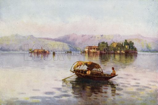 A Summer Evening, Lago Maggiore. Illustration for The Italian Lake Described by Richard Bagot (A&C Black, 1905).