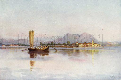 Isola Pescatori, Lago Maggiore. Illustration for The Italian Lake Described by Richard Bagot (A&C Black, 1905).