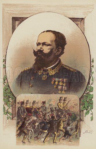 Victor Emmanuel, Garibaldi and the King at Naples. Illustration for The Life and Times of Garibaldi (Walter Scott, 1881).