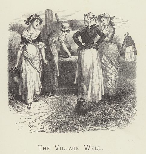 The village well. Illustration for Moral Songs by Mrs CF Alexander (Masters & Co, 1880).