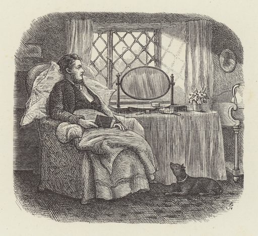 Man alone. Illustration for Moral Songs by Mrs CF Alexander (Masters & Co, 1880).