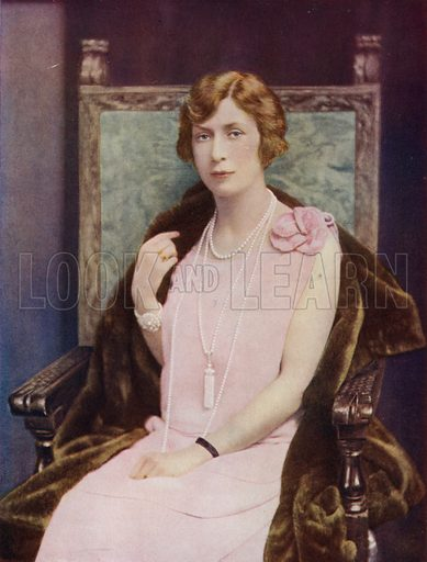 Princess Mary, Viscountess Lascelles. Illustration for Our King and Queen edited by JA Hammerton (Amalgamated Press, c 1930).