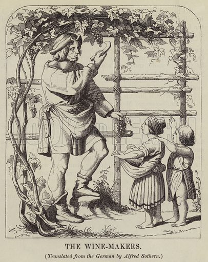 The Wine-Makers. Illustration for Joseph Gundall's The Playmate (1847).