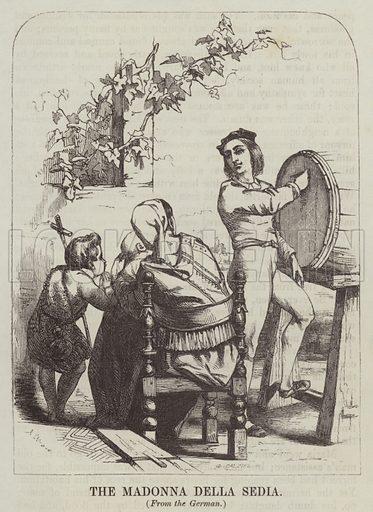 The Madonna della Sedia. Illustration for Joseph Gundall's The Playmate (1847).