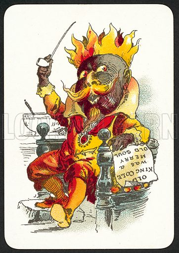 Old King Cole Was A Merry Old Soul. Snap card, published by Thomas De La Rue, late 19th century.