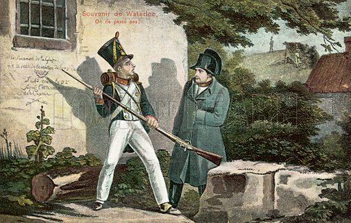 Souvenir de Waterloo. Postcard, early 20th century.