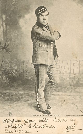 Mr A Chevalier. Postcard, early 20th century.