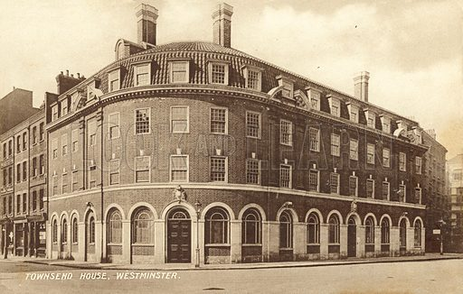 Townsend House, Westminster, London. Postcard, early 20th century.