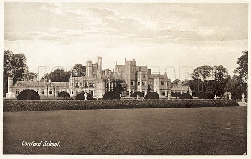 Canford School. Postcard, early 20th century.