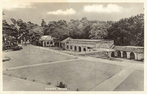 Downe House. Postcard, early 20th century.