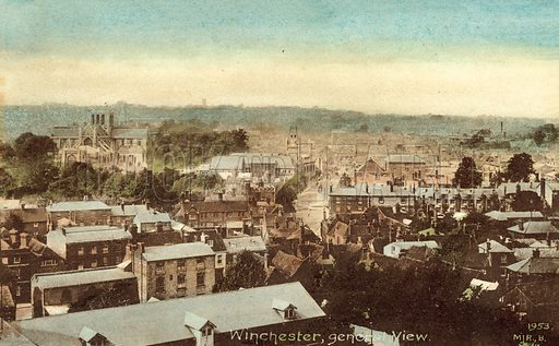 Winchester, general view. Postcard, early 20th century.