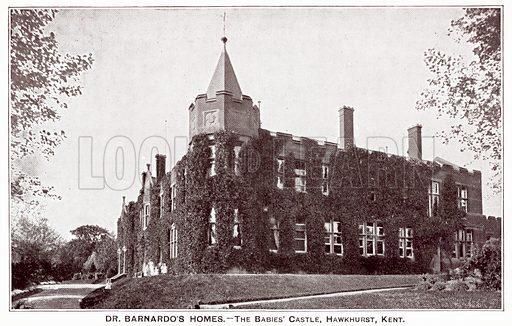 Dr Barnardo's Homes, The Babies' Castle, Hawkhurst, Kent. Postcard, early 20th century.