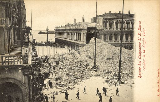 Collapse of the Campanile of San Marco, Venice, 14 July 1902
