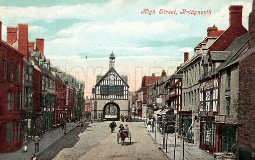 High Street, Bridgnorth. Postcard, early 20th century.